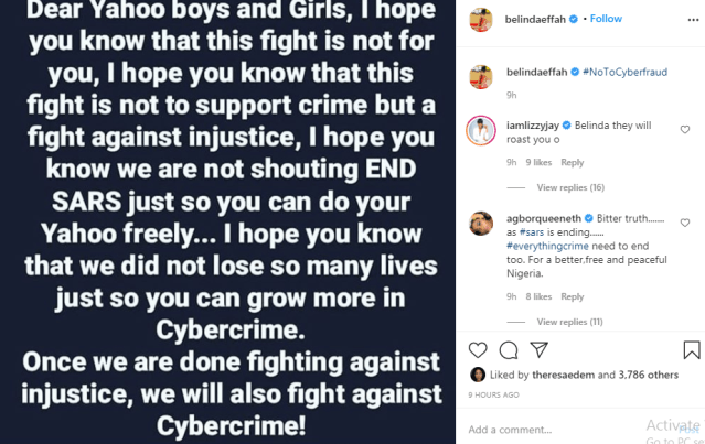 Once we are done fighting against injustice, we will also fight against cybercrime - Celebrities write Yahoo boys and girls lindaikejisblog 1
