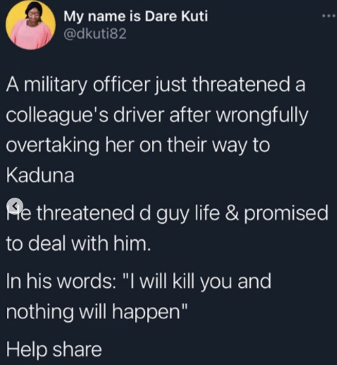 Ill kill you and nothing will happen - Soldier threatens and assaults driver lindaikejisblog 1