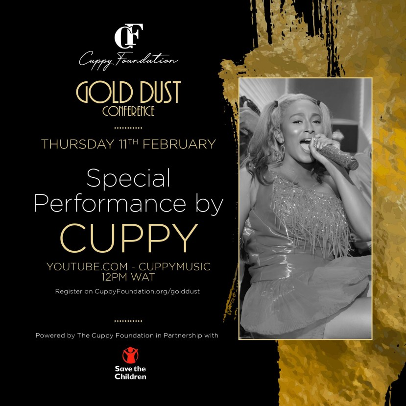 Cuppy announces first ever online conference, #CuppyGoldDust lindaikejisblog5