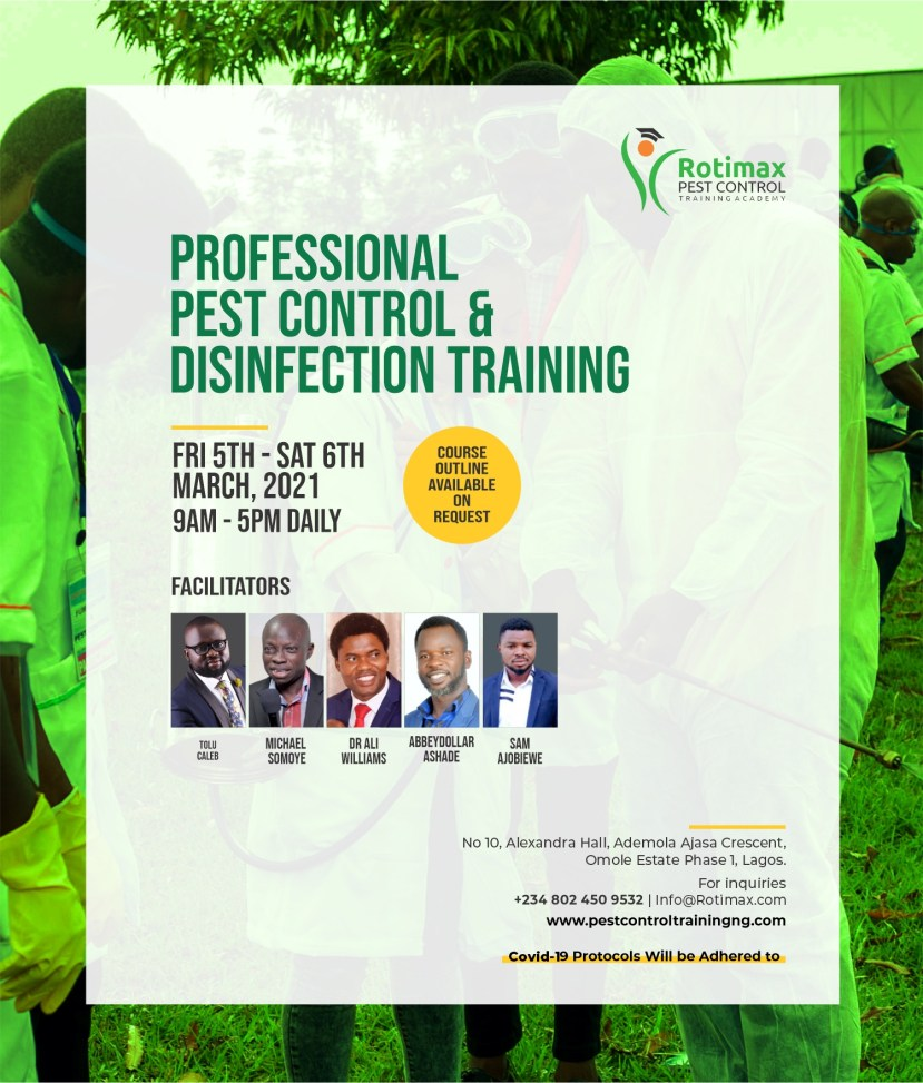Professional and Practical Intentsive Pest Control and Disinfection Training lindaikejisblog1