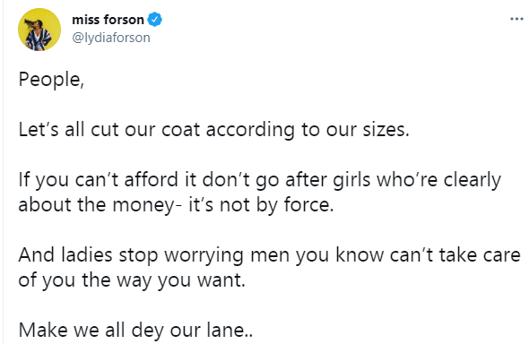 If you cant afford it dont go after girls whore clearly about the money - Actress Lydia Forson 1