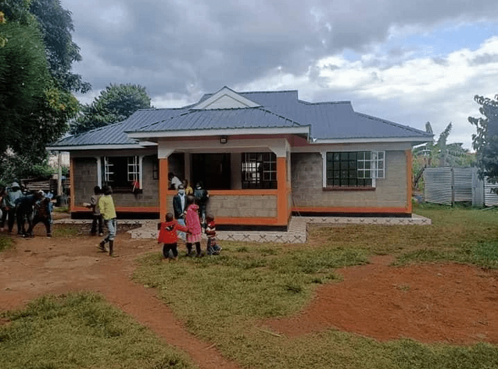 Kenyan Olympic champion gifts uncle who raised her since 2-years-old a house 1