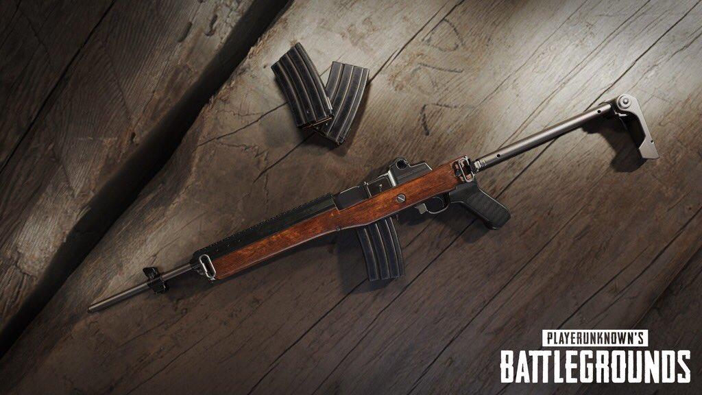 【PUBG】新武器『Mini-14』公開!ドロップは島の全地域で!来週のアップデートで追加予定