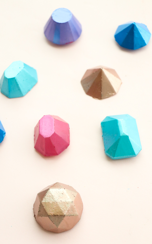 DIY It Hot Glue Metallic Gem Magnets A Kailo Chic Life