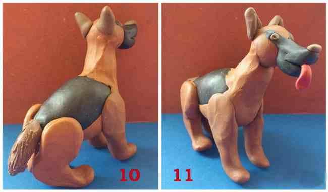 Làm thế nào để làm một con chó từ plasticine. Chúng tôi có một cái đuôi và lưỡi.