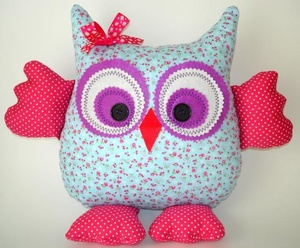 Pattern for owls with wings