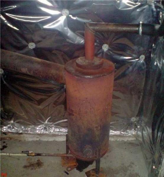 Példa egy házi tűzhelyre a csőből