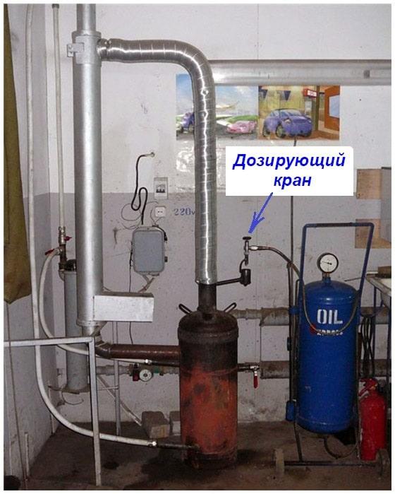 A csepegtető kályha felszerelése a garázsba