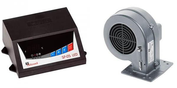 Conjunto de automatización para generadores de calor de madera.
