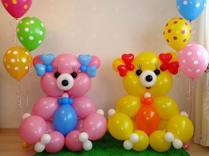 Gấu từ những quả bóng
