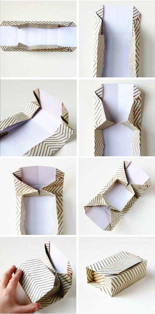 Сыйлықтар үшін оригами қаптамасы