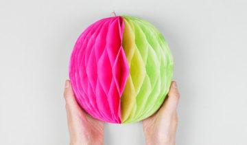 Как сделать шар из бумаги: фото лучших вариантов изготовления бумажного шара