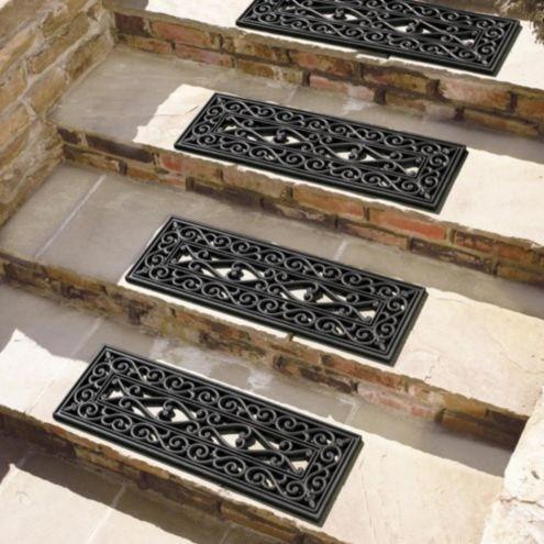 Highgate Doormat Stair Treads Set Of 4 Ballard Designs | Rubber Treads For Outdoor Steps | Non Slip | Diamond Plate | Rubber Cal | Recycled Rubber | Rubber Matting