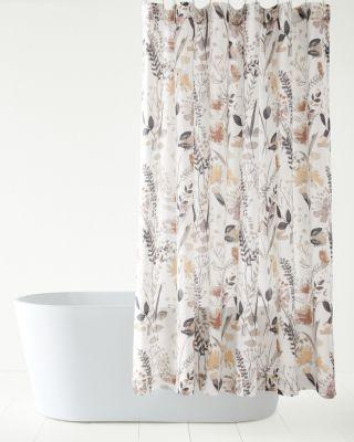 wildflower linen shower curtain