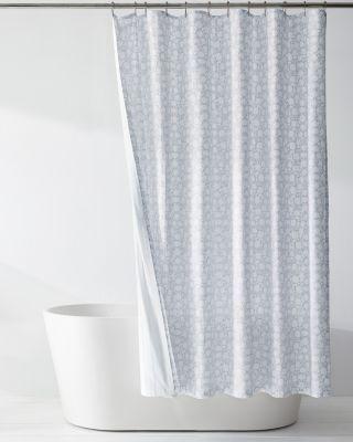 siesta organic cotton reversible shower curtain