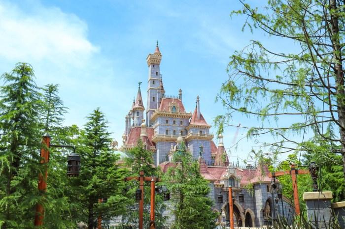 迪士尼樂園 美女與野獸城堡