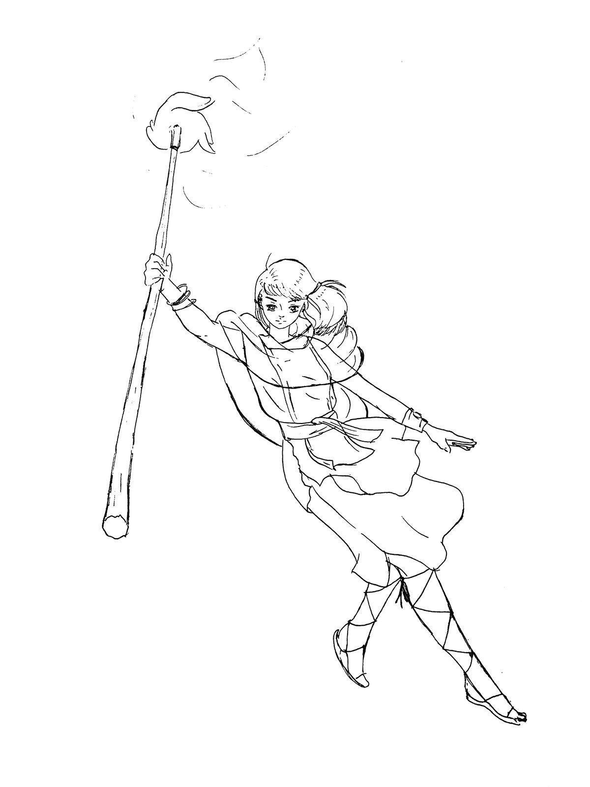Divination Naomi - Sketch