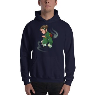 Chibi Furisode Licia Hooded Sweatshirt Navy