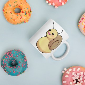 Adorable Chibi Mr. Snail Mug