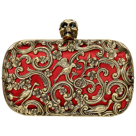 Red Ornate Clutch