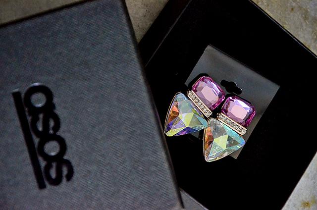 ASOS Jewelled Triangle Stud Earrings