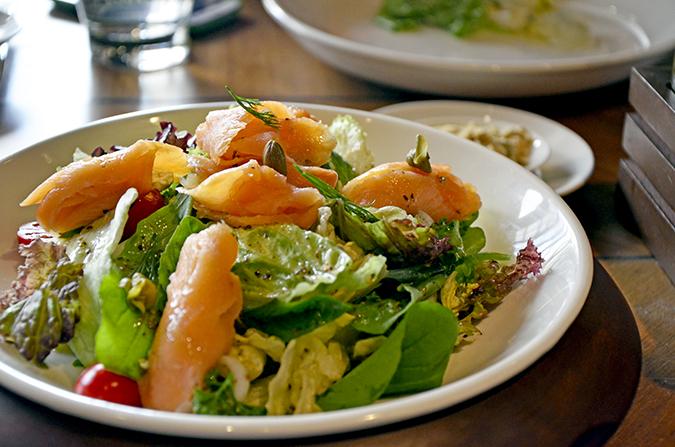 Fio Cookhouse & Bar - Smoked Salmon Salad | Akanksha Redhu