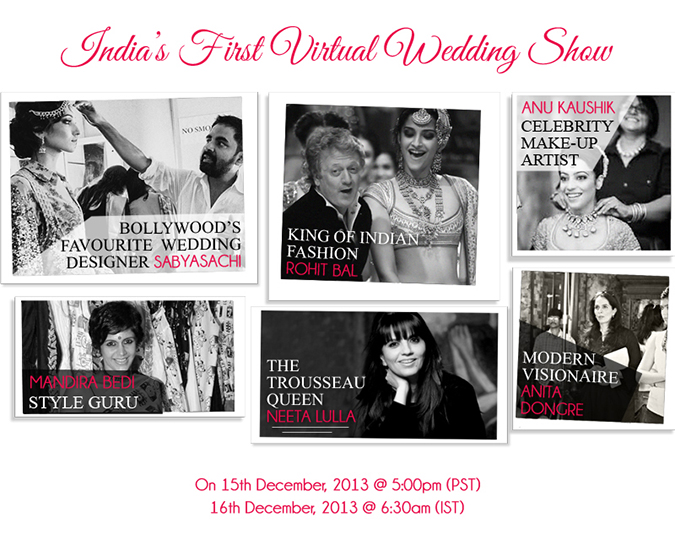 Virtual Wedding Show by #IndianRoots - Designers
