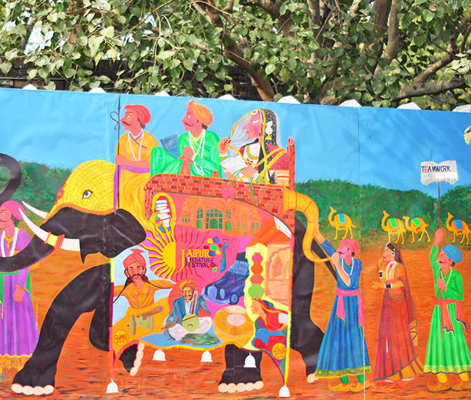 Jaipur | Le Méridien | Day 02 - Jaipur Literature Festival | www.akanksharedhu.com | artwork