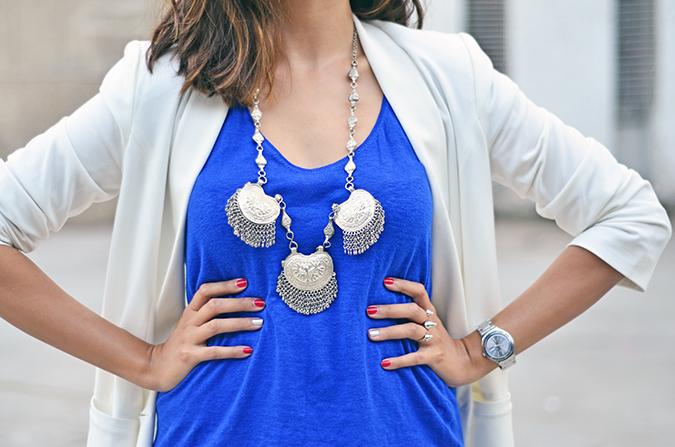 Day02 | WIFW | Mono-Cobalt | www.akanksharedhu.com | neck accessory