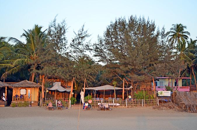 Agonda Beach | Goa | www.akanksharedhu.com | view of guesthouse from beach