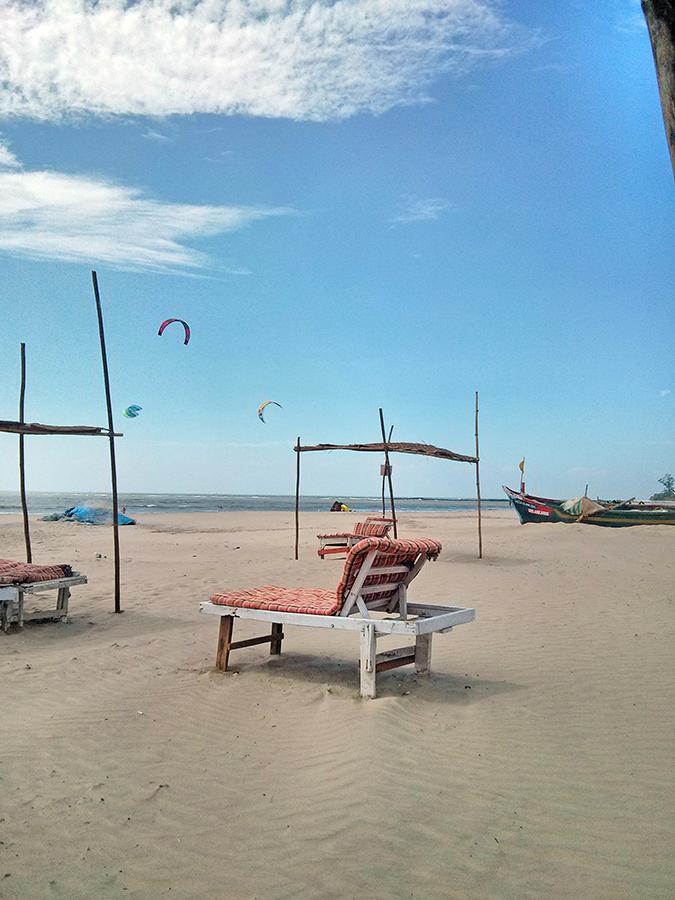Morjim | Goa | www.akanksharedhu.com | Morjim Beach Sun Bed