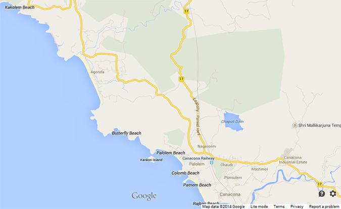 Agonda Beach | Goa | www.akanksharedhu.com | map