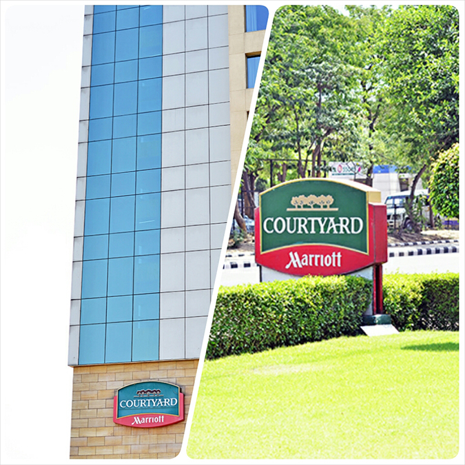 Weekend Getaway | Courtyard Marriott Gurgaon | signage