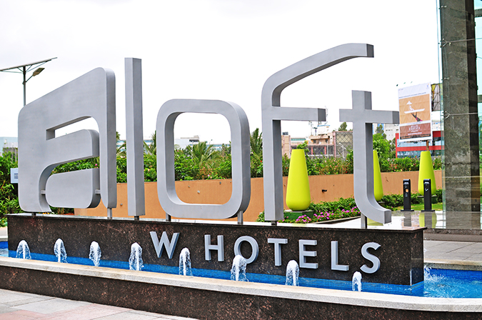 Aloft Hotels | www.akanksharedhu.com | hotel sign