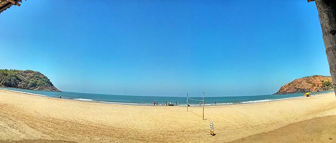 Gokarna | www.akanksharedhu.com | kudle beach pano