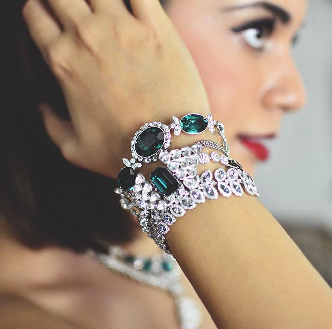 Swarovski | #StyleYourWayToParis | www.akanksharedhu.com | side face bracelets