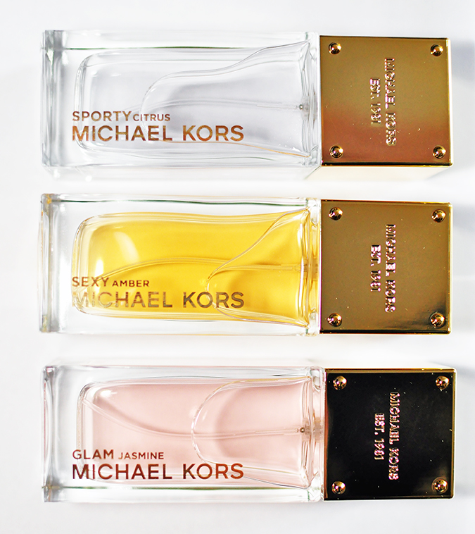 #SportySexyGlam | Michael Kors | all 3 bottles arranged equally