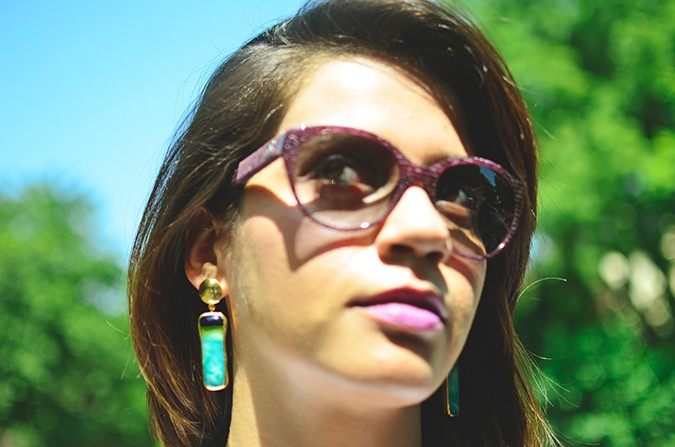 Chevron | www.akanksharedhu.com | earrings