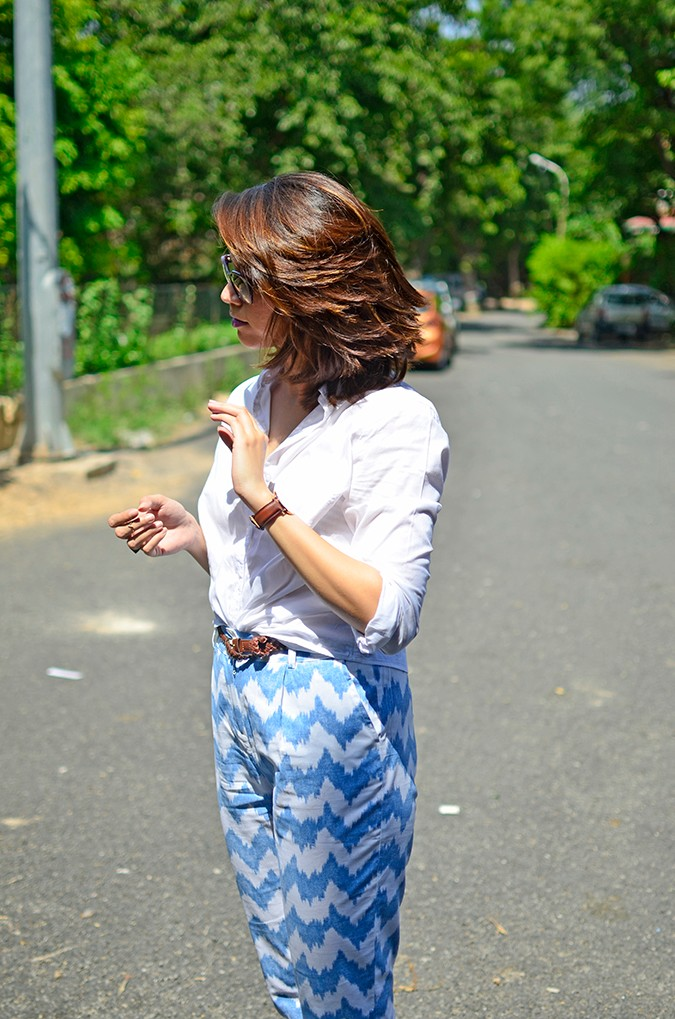 Chevron | www.akanksharedhu.com | half side flipping hair