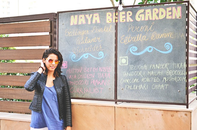 Weekend Getaway | Anya Gurgaon | www.akanksharedhu.com | naya beer garden with board