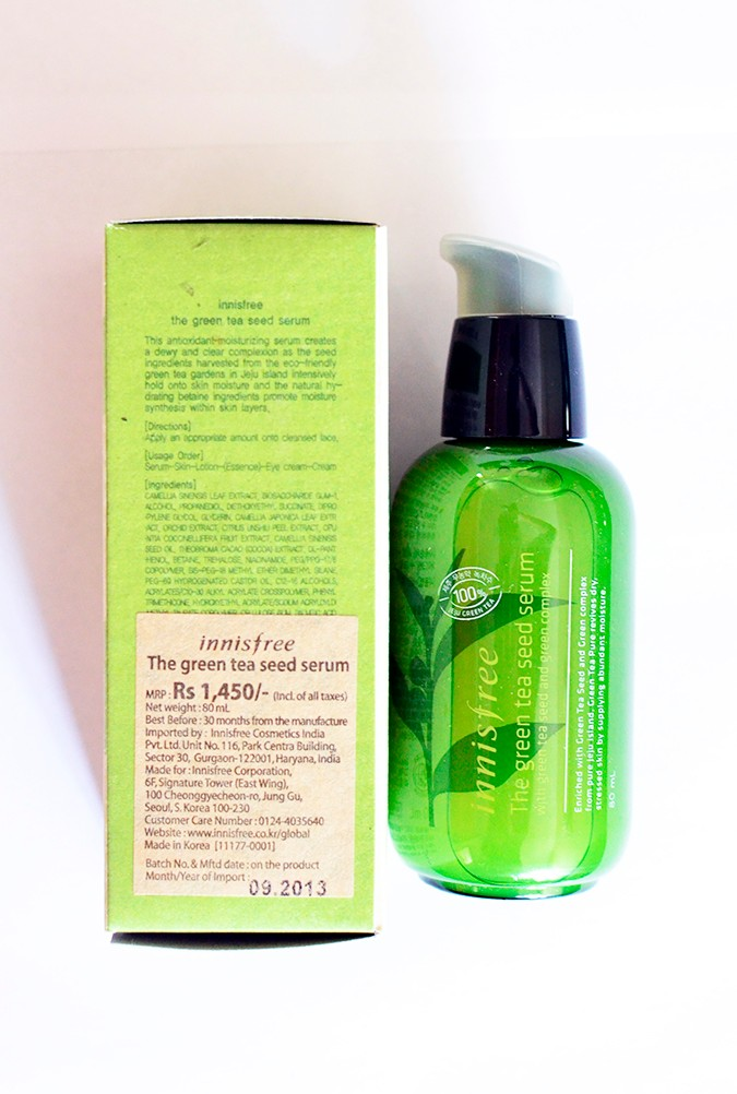 Beauty Stash | Innisfree | www.akanksharedhu.com | serum with carton