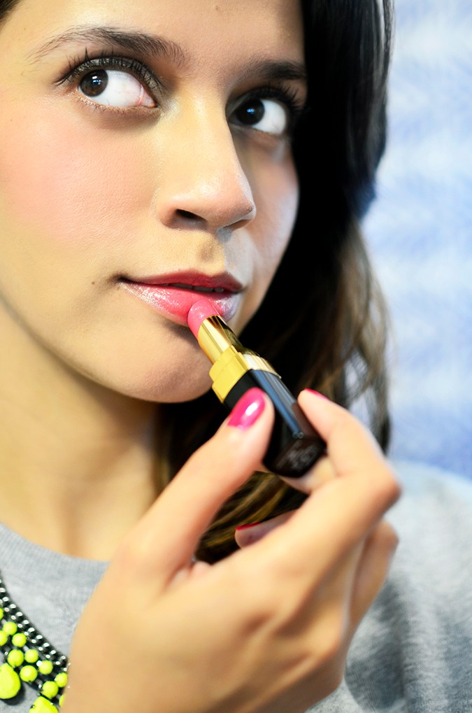 Collection Rêverie Parisienne | Chanel | Akanksha Redhu | putting lipstick on full face