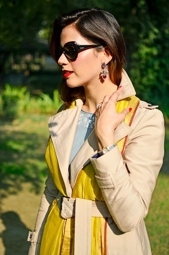 Indo-Western Style | Kokum | Akanksha Redhu | half front earring