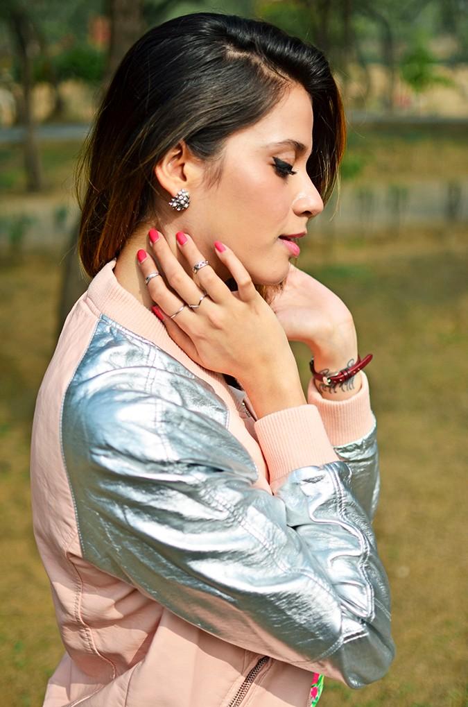 Space Cherry | Akanksha Redhu | side half earrings
