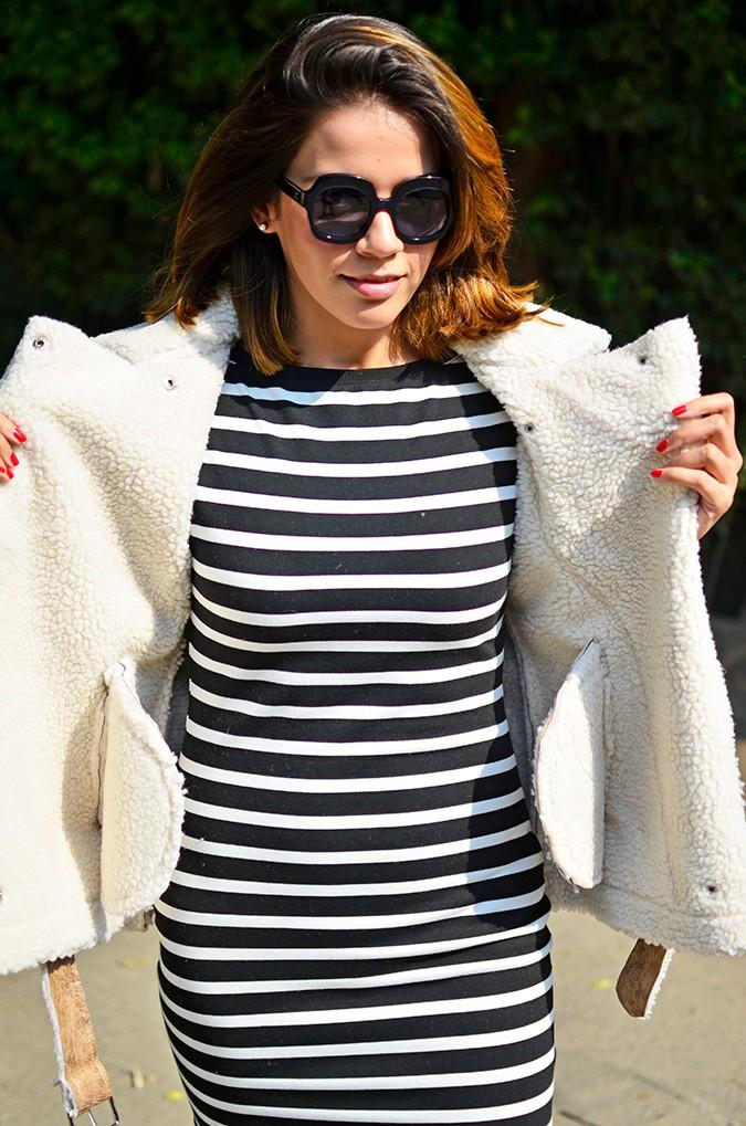 Stripes | Akanksha Redhu | half front jacket open