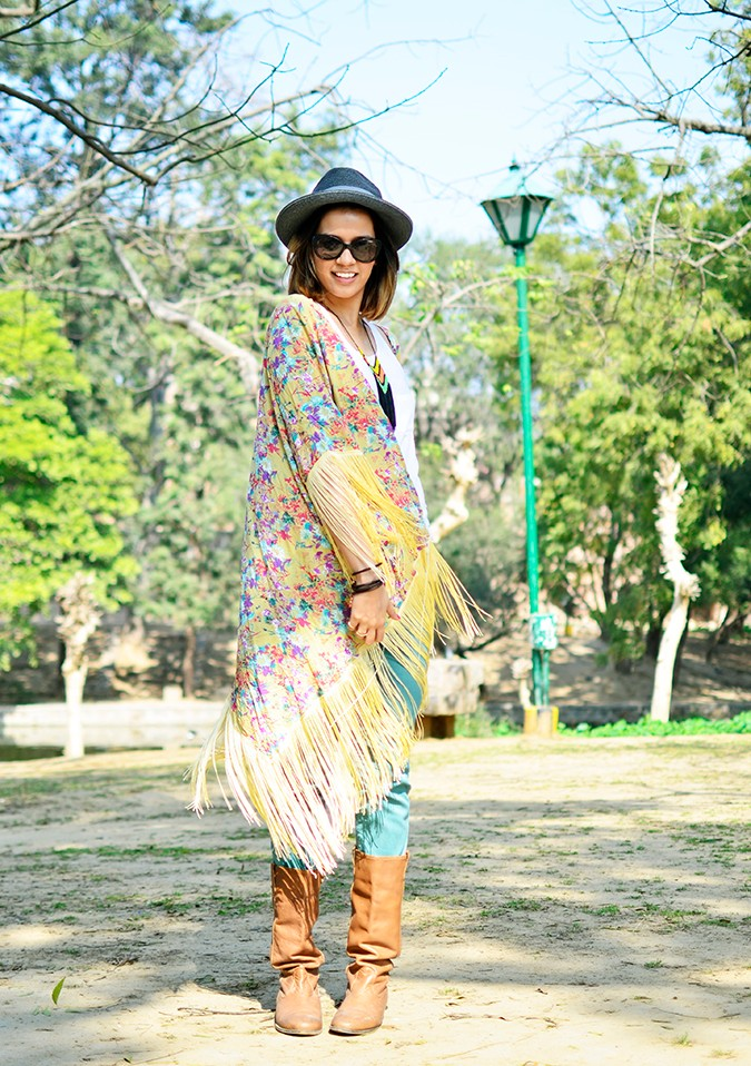 Hippie Kimono | Akanksha Redhu | full front slight swing