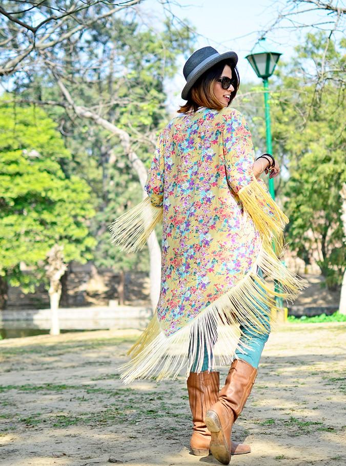 Hippie Kimono | Akanksha Redhu | full back twirl