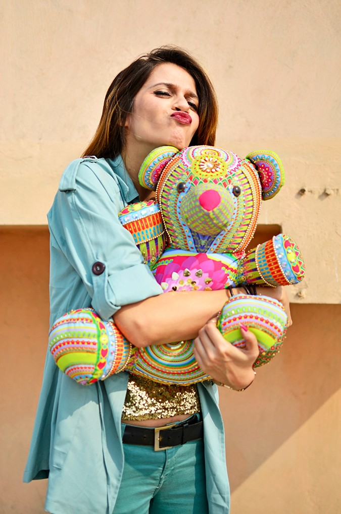 Manish Arora Teddy Bear | ExclusivelyIn | Akanksha Redhu | going cray with teddy