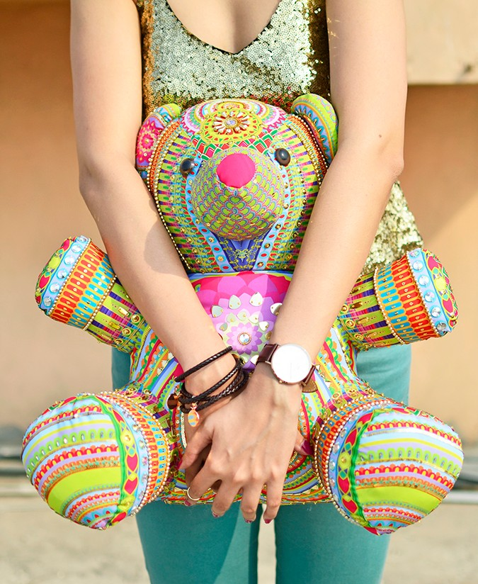 Manish Arora Teddy Bear | ExclusivelyIn | Akanksha Redhu | half front both arms