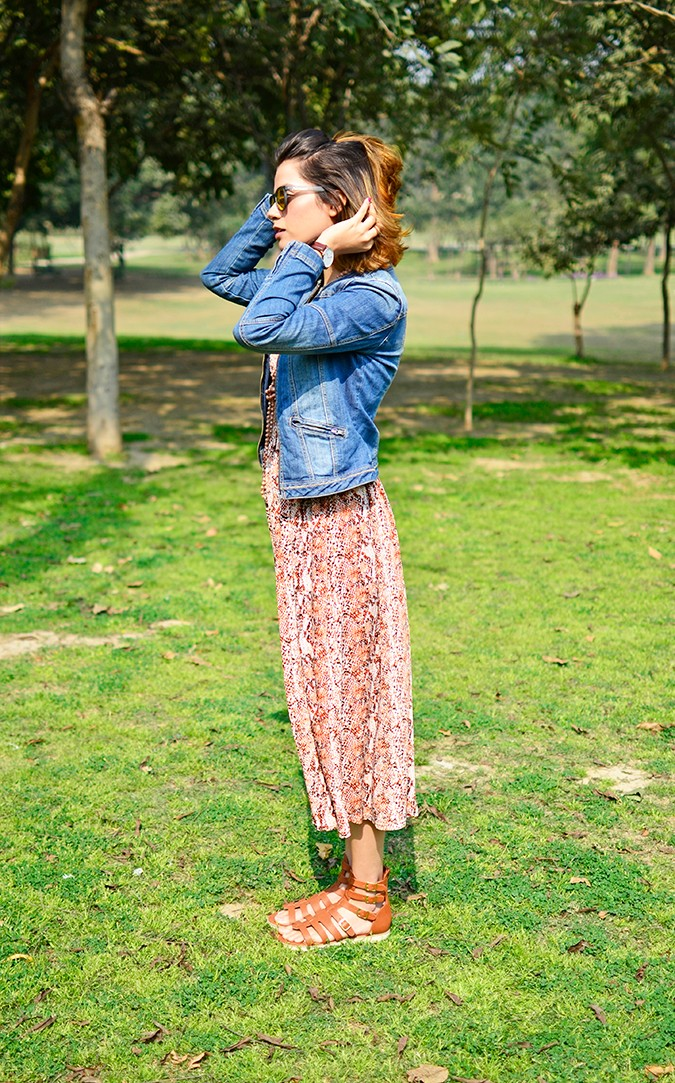 Denim + Animal Print | Akanksha Redhu | full side jacket